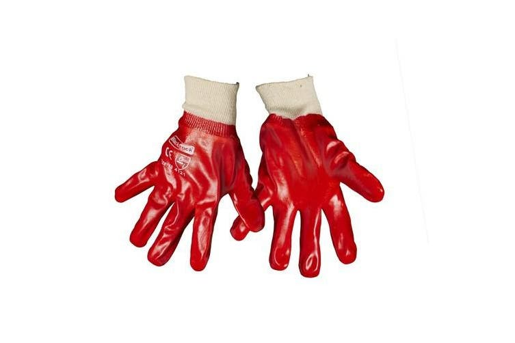 Blackrock Mens General PVC Knitwrist Gloves (Red) (One Size)