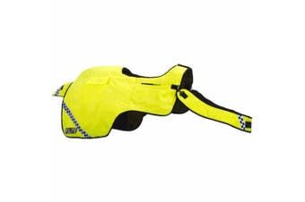 Equisafety Polite Waterproof Quilted Hi-Vis Wrap Around (Yellow) (XS)