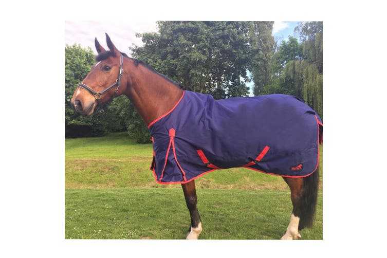 Masta TEX Basic 200g Turnout Rug With Standard Neck (Navy Blue) (6 ft 9)