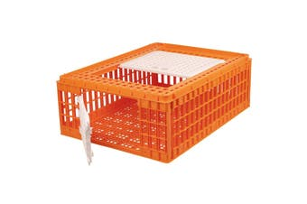 Eton Mini Plastic Poultry Crate (Orange) (One Size)