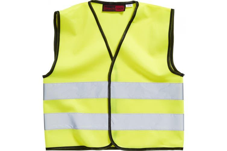 Blackrock Childrens Hi-Vis Sleeveless Waistcoat (Yellow) (7-9 Years)