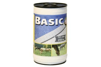 Basic Fencing Tape (White) (200m x 10mm)