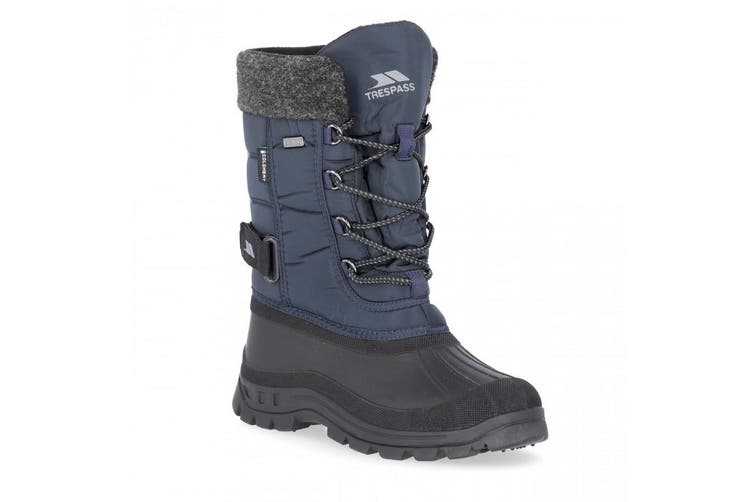 Trespass Youths Boys Strachan Snow Boots (Navy) (4 Youth UK)