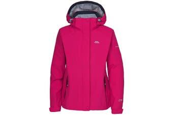 Trespass Womens/Ladies Florissant Hooded Waterproof Jacket (Cerise) (M)