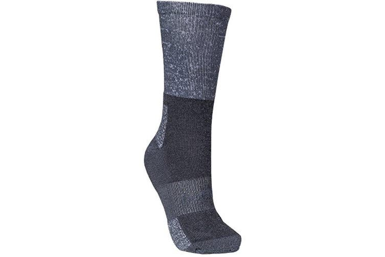 Trespass Womens/Ladies Leader Hiking Boot Socks (Grey Marl) (3/6 UK)