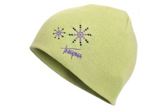 Trespass Childrens Girls Sparkle Knitted Beanie Hat (Pear) (8/10 Years)
