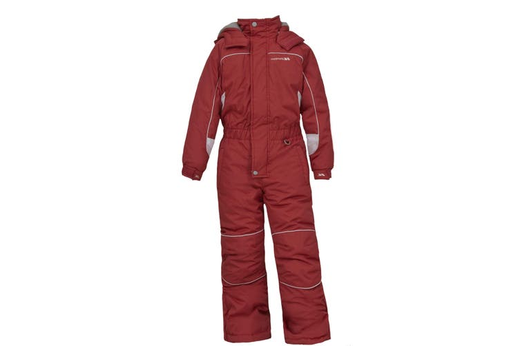Trespass Childrens Unisex Laguna Zip Up All In One Ski Suit (Signal Red) (2/3 Years)