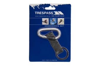 Trespass Affix 6mm Carabineer With Strap And Rubber Ring (Silver) (One Size)