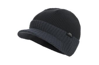 Trespass Childrens Boys Clinton Peaked Beanie Hat (Black) (2/4 Years)
