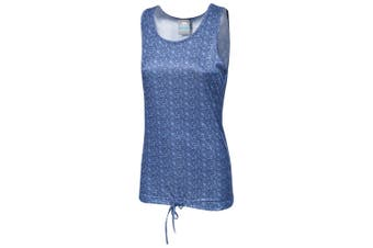 Trespass Womens/Ladies Seeley Active Sleeveless Vest Top (Airforce Blue Print)