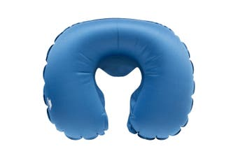 Trespass Inflight Inflatable Travel Neck Pillow (Blue) (One Size)