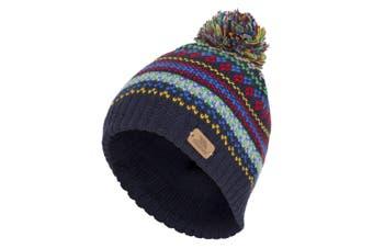 Trespass Childrens/Kids Garrity Knitted Pom Pom Hat (Navy) (2/4 Years)