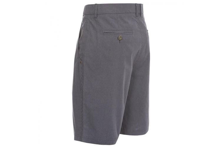 Trespass Mens Atom Casual Shorts (Flint Stripe) (XS)