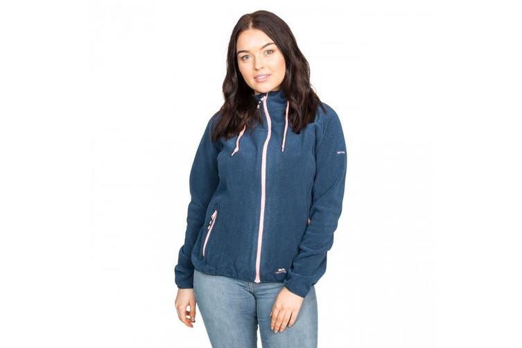 Trespass Womens/Ladies Azina Full Zip Hooded Fleece Jacket (Navy Tone) (XXS)