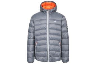 Trespass Mens Whitman Packaway Down Jacket (Carbon/Hot Orange) (XXL)