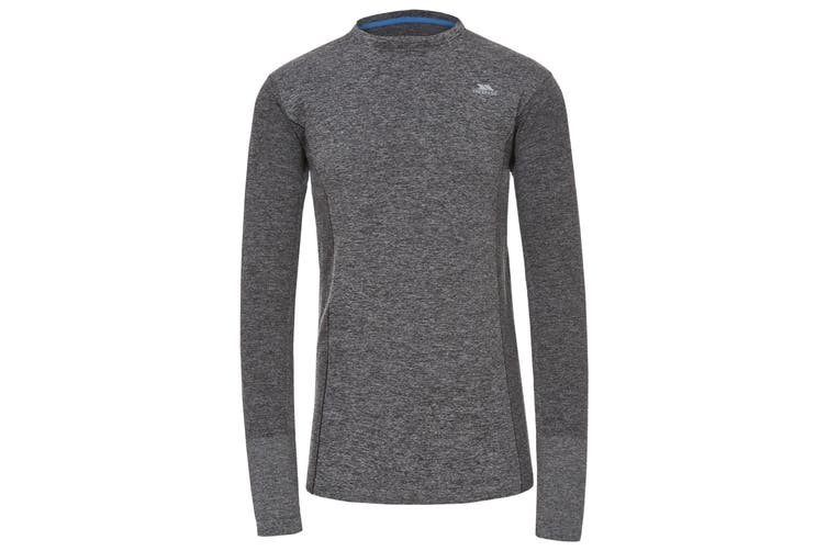 Trespass Mens Timo Long Sleeve Active Top (Black Marl) (S)
