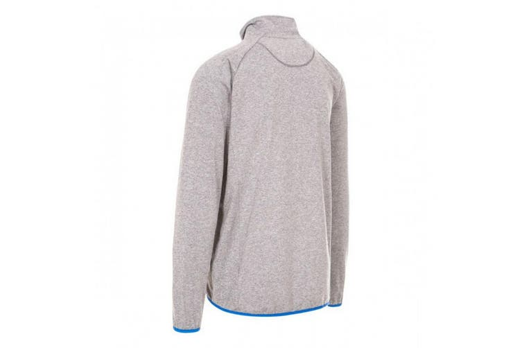 Trespass Mens Colson Full Zip Active Top (Grey Marl) (XS)