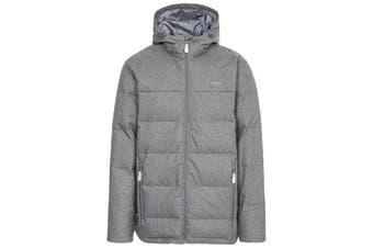 Trespass Mens Sadler Down Jacket (Dark Grey Marl) (XL)