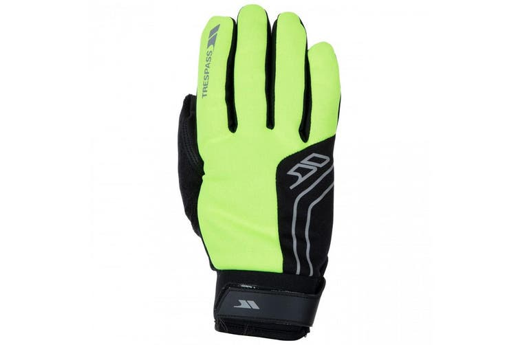 Trespass Adults Unisex Turbo Football Sports Reflective Gloves (Hi Visibility Yellow) (XS/S)
