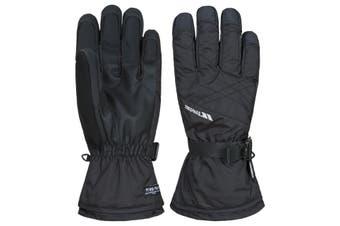 Trespass Mens Reunited II Ski Gloves (Black) (S)