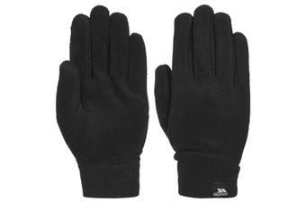 Trespass Mens Gaunt II Fleece Gloves (Black) (S)