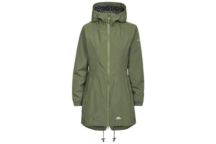 Trespass Womens/Ladies Waterproof Shell Jacket (Moss) (XL)