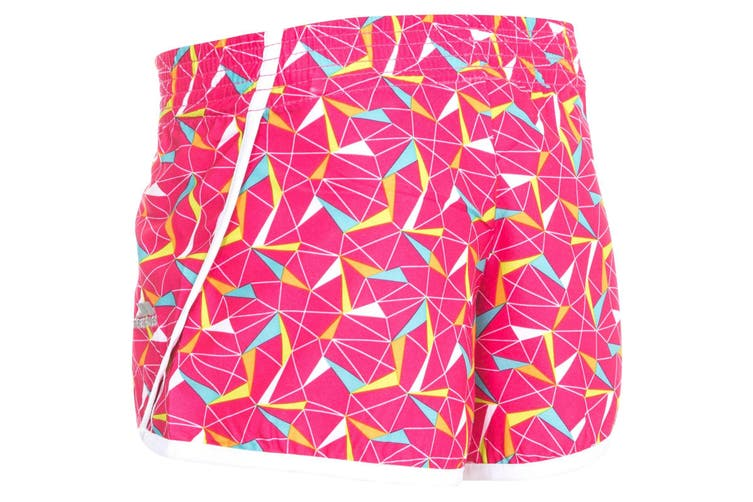 Trespass Childrens Girls Serve Shorts (Pink Lady Print) (7/8 Years)
