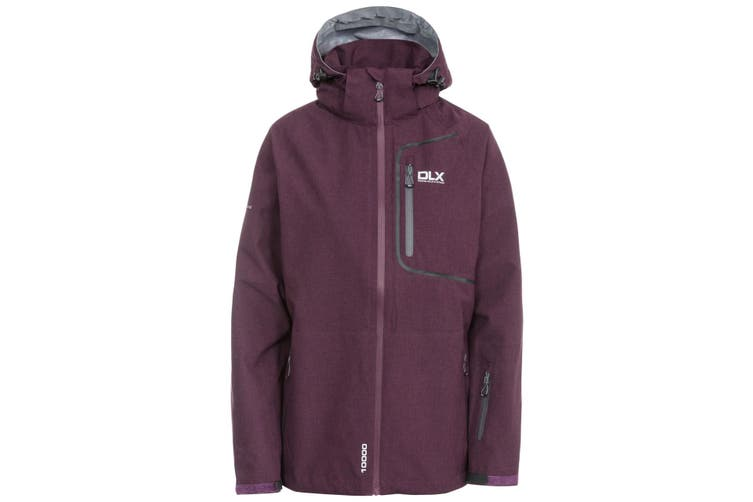 Trespass Womens/Ladies Gita II Waterproof Shell Jacket (Blackberry Marl) (XXS)