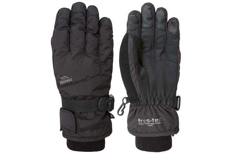 Trespass Childrens/Kids Ergon II Ski Gloves (Black) (5/7 Years)