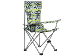 Trespass Childrens/Kids Joejoe Camping Chair With Carry Bag (Treadblue Print) (One Size)
