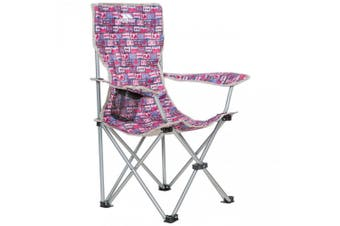 Trespass Childrens/Kids Joejoe Camping Chair With Carry Bag (Magenta Retro Tape) (One Size)