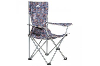 Trespass Childrens/Kids Joejoe Camping Chair With Carry Bag (Navy Retro Tape) (One Size)