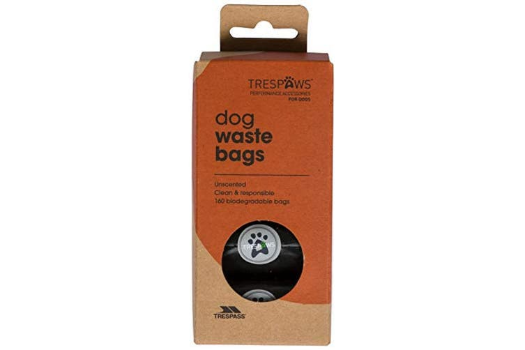 Trespass Pebble Dash Dog Waste Refill Plastic Bags (Pack Of 160) (Black) (One Size)