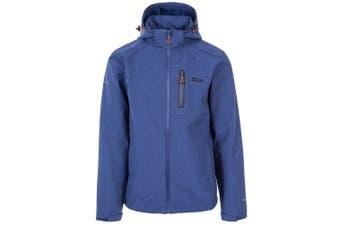 Trespass Mens Ferguson II Deluxe Touch Fastening Softshell Hooded Jacket (Twilight Marl) - UTTP4547