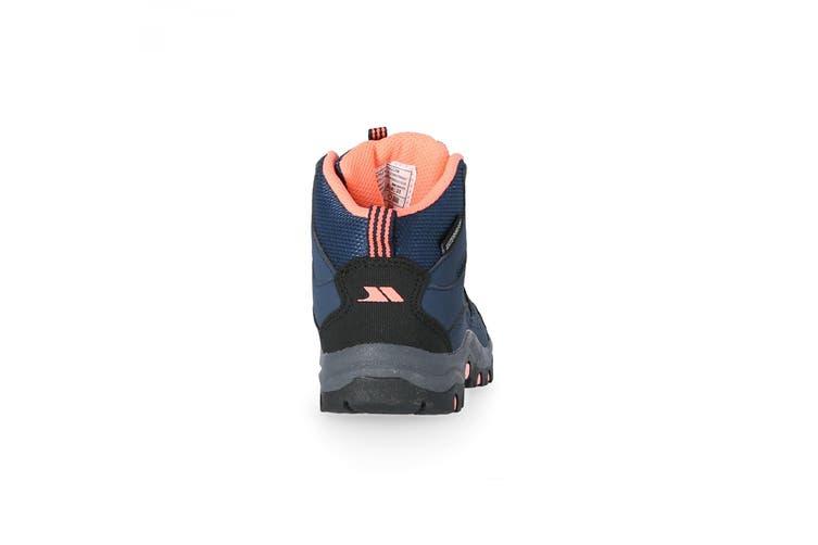 Trespass Childrens/Kids Gillon Mid Cut Walking Boots (Navy/Neon Coral) (4 UK)