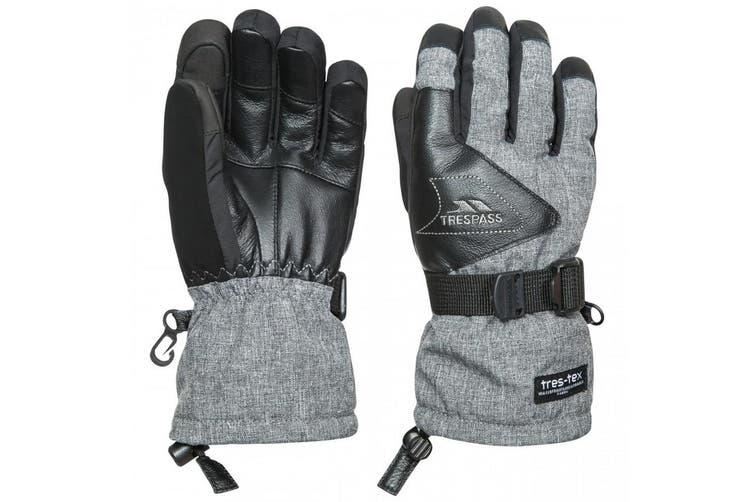 Trespass Childrens/Kids Amari Waterproof Leather Gloves (Grey Marl) (5-7 Years)
