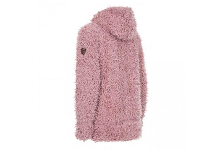 Trespass Womens/Ladies Fluffyness Hooded Fleece Jacket (Dusty Rose) (2XS)