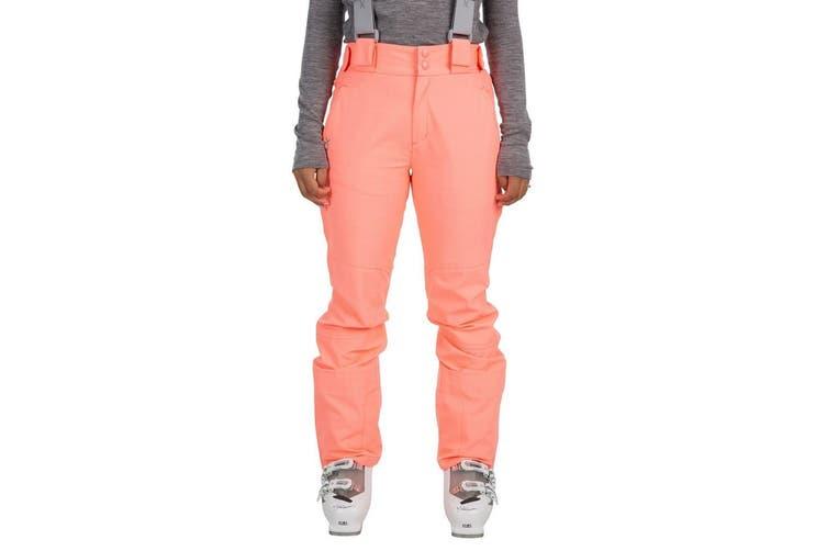 Trespass Womens/Ladies Jacinta DLX Ski Salopettes Trousers (Neon Coral) (L)