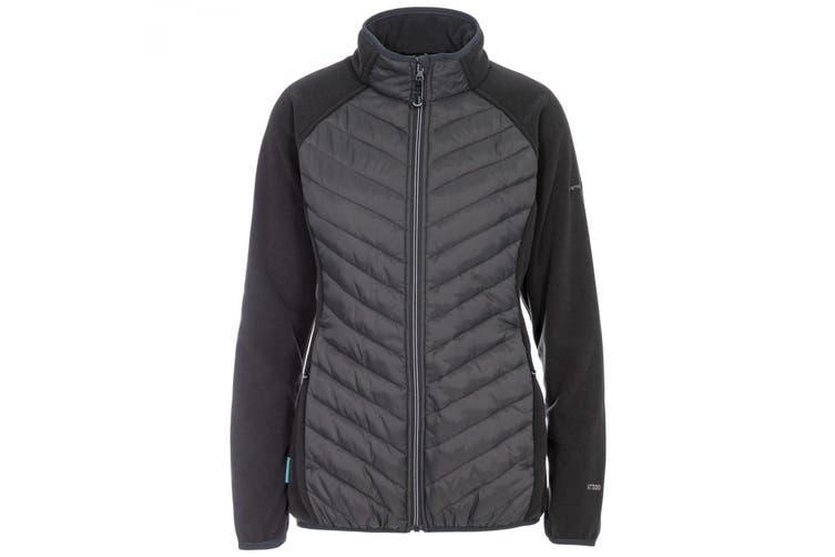 Trespass Womens/Ladies Underpinned Padded Fleece Jacket (Charcoal) (XS)