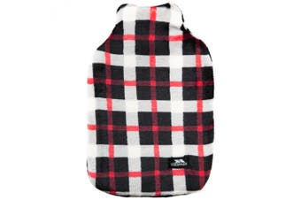 Trespass Hughe Hot Water Bottle With Cover (Red Check) (One Size)