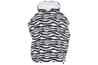 Trespass Childrens/Kids Logan Poncho Towel (Zebra Print) (One Size)