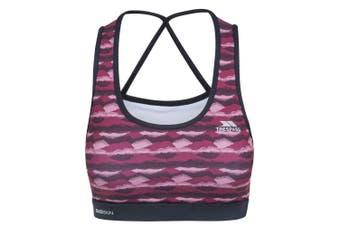 Trespass Womens/Ladies Esme Active Crop Top (Berry Print) (XS)
