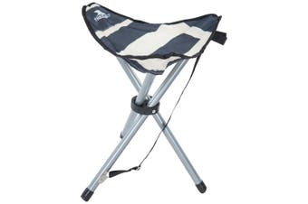 Trespass Ritchie Tripod Camping Stool/Chair (Navy Stripe) (One Size)