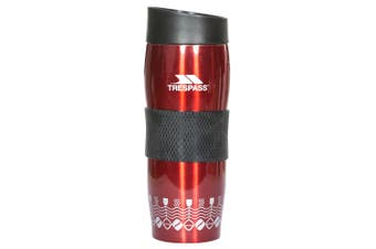 Trespass Magma400 Double Walled Thermal Cup (Red Print) (One Size)