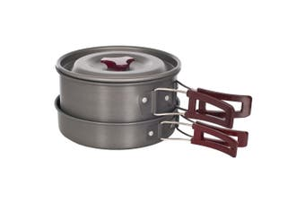 Trespass Reheat Camping Cooking Set (Silver) (One Size)