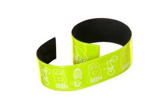Trespass Snapper Hi Visibility Reflective Wrist Wraps (Pack Of 2) (Hi Vis Green) (One Size)