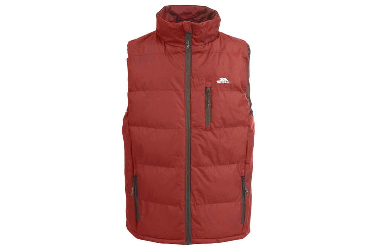 Trespass Mens Clasp Padded Gilet/Bodywarmer (Red) (L)