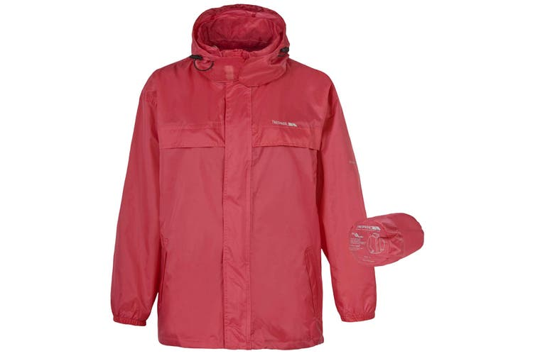 Trespass Adults Unisex Packa Waterproof Packaway Jacket (Sorbet) (XXL)