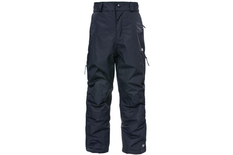 Trespass Kids Unisex Marvelous Ski Pants With Detachable Braces (Black) (3/4 Years)