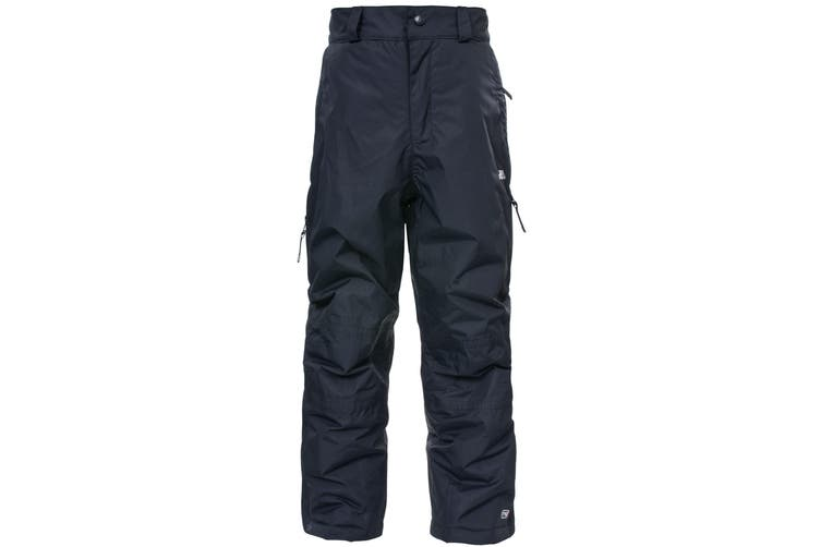 Trespass Kids Unisex Marvelous Ski Pants With Detachable Braces (Black) (9/10 Years)